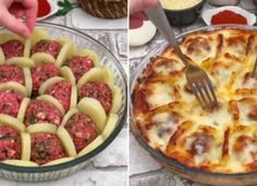 Today we have brought you a recipe for a food that is a bit special . Meat Recipes, Cooking Recipes, Comida Diy, Salsa Bechamel, Bechamel Sauce, Tasty Meatballs, Breakfast Items, Russian Recipes, Lunches And Dinners