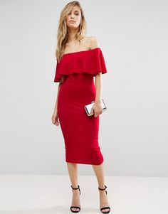 Robe rouge classe pas cher