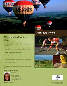 Hunters Glen Coming Soon, located in beautiful Thornton, CO.  Do you know someone who is looking to sell or purchase a home?  Please don't hesitate to contact me!  I can even help individuals NOT in Colorado! www.dezaallen.remaxagent.com