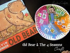 4 seasons craft for Old Bear by Kevin Henkes with free printable and lots of other ideas for Kevin Henkes books
