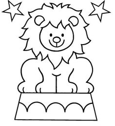 Circus Lion Coloring Pages Lion Coloring Pages, Preschool Coloring Pages, Coloring Pages To Print, Free Printable Coloring Pages, Coloring Pages For Kids, Coloring Books, Kids Coloring, Coloring Sheets, Circus Crafts Preschool