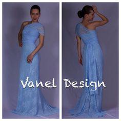 Long blue bridesmaid dress convertible dress by VanelDesign, $89.00
