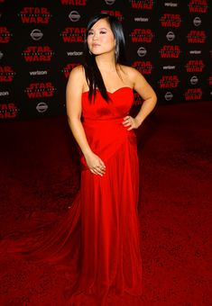 Kelly Marie Tran attends Premiere Of Disney Pictures And Lucasfilm's 'Star Wars: The Last Jedi' - Arrivals at The Shrine Auditorium on December 9, 2017 in Los Angeles, California