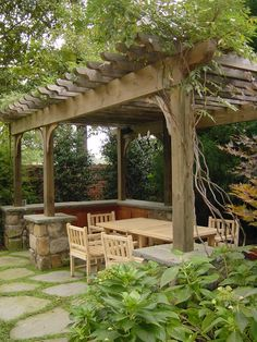 Outdoor dining area I designed while employed as lead designer at Cascade Design Group