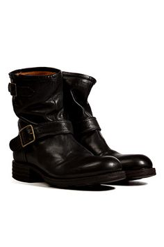 Fiorentini & Baker - Leather Buckled Boots in Black