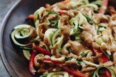 Thai Zucchini Noodle Salad