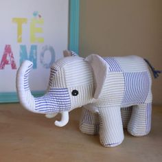lily-gus-Handmade-Stuffed-Elephant-8-Inches