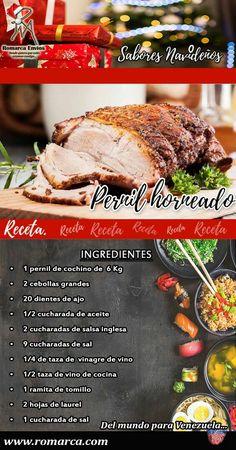 Pork Recipes, Mexican Food Recipes, Holiday Recipes, Great Recipes, Venezuelan Food, Colombian Food, Homemade Salsa, Pork Dishes, Holiday Dinner