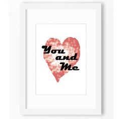 YOU AND ME Love Illustration couple Typography Art Pop Art Decor Affiche Wall Decor by BlomArt on Etsy https://www.etsy.com/listing/504548393/you-and-me-love-illustration-couple