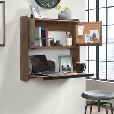 Wall Mounted Desk, Wall Desk, Home Office Furniture, Furniture Design, Diy Furniture, Furniture Refinishing, Murphy Desk, Fold Down Desk, Desks For Small Spaces