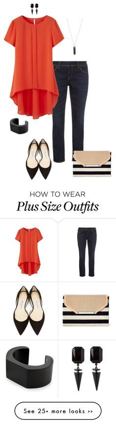 """""""Try something different- plus size"""" by gchamama on Polyvore featuring Jimmy Choo, Stella & Dot, NOVICA and Karen Kane"""
