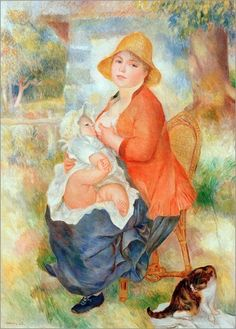 Pierre-Auguste+Renoir,+Mother+Nursing+Her+Child+(Aline+and+Pierre)+on+ArtStack+#pierre-auguste-renoir+#art