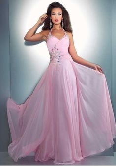 Photo 1 for Chiffon Halter Floor Length Beading Pleated Evening Party Dress/Prom Gown. Prom Dress 2013, Pink Prom Dresses, Homecoming Dresses, Pretty Dresses, Evening Dresses, Wedding Dresses, Pink Dress, Dresses 2013, Gowns 2017