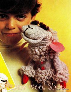 Vintage-70s-Retro-Knit-or-Crochet-Hand-Puppet-Pattern