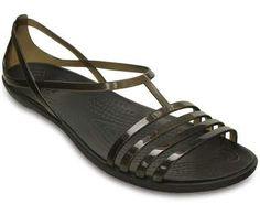 25ad7f6819eb Crocs Women s Isabella Flat Sandals - Black 10M Crocs Shoes Women