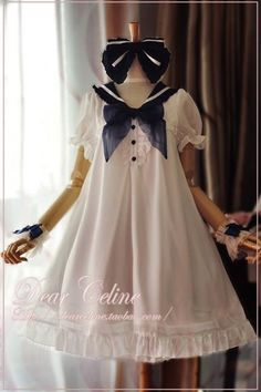 Dear Celine Sailor Style Dolly One Piece