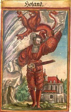 """Holland [Holand (f°142) -- Koebel, Jacob, """"Wapen des heyligen römischen Reichs teutscher Nation"""", Franckfurth am Main, 1545 [BSB Ms. Rar. 2155]"""