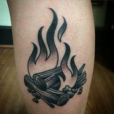 Campfire Tattoo Ideas
