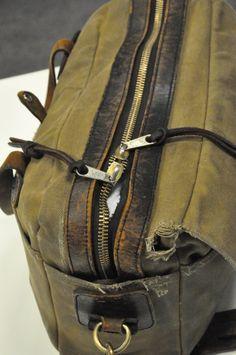 Broken In Otter Green Filson Briefcase