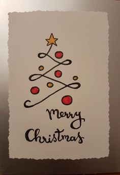 Einfache DIY Weihnachtskarte Ideen, die Sie in dieser Saison senden möchten Simple DIY Christmas Card Ideas You Want To Send This Season, … Merry Christmas Images, Simple Christmas Cards, Christmas Doodles, Handmade Christmas Tree, Christmas Card Crafts, Homemade Christmas Cards, Christmas Tree Cards, Homemade Cards, Christmas 2019