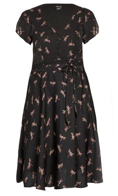 City Chic - SWEET DRAGONFLY DRESS - Women's Plus Size Fashion