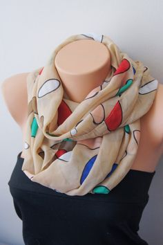 Geometric color colorful Infinity Scarf Shawl by SpecialFabrics