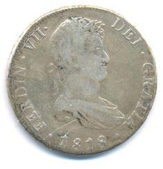 BOLIVIA 8 REALES 1818 POTOSI P.J. FERDINAND VII SILVER COIN KM# 31 VF http://cgi.ebay.com/ws/eBayISAPI.dll?ViewItem&item=161271822753