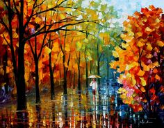 FALL ALLEY 2 - PALETTE KNIFE Oil Painting On Canvas By Leonid Afremov http://afremov.com/FALL-ALLEY-2-PALETTE-KNIFE-Oil-Painting-On-Canvas-By-Leonid-Afremov-Size-30-x24.html?utm_source=s-pinterest&utm_medium=/afremov_usa&utm_campaign=ADD-YOUR