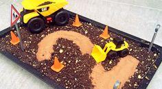Bagger-Kuchen (Baustellen-Kuchen) zum Geburtstag