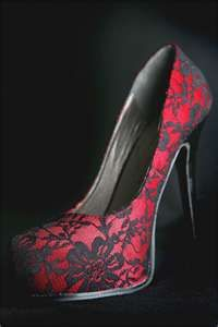 red lace heels; when i become Supreme of my own coven, i will rock these.