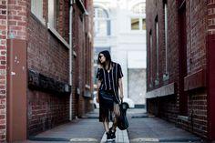 Jiawa Liu - Beige Renegade  @boohoo  celine-cabas-tassel-skirt-sneakers
