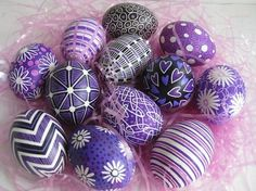 purple Ukrainian-style eggs. Just doing one color this year - easier and more modern looking anyway