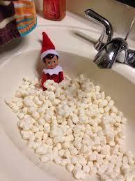 elf on the shelf marshmellow bath - Google Search