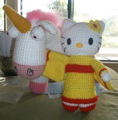 Hello Kitty and Despicable Me unicorn