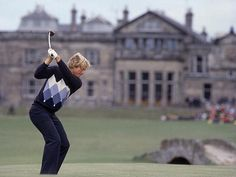 """sigolfphotos: """" Jack Nicklaus smashed a drive down the fairway at St. Andrews on his way to winning the 1978 British Open. It was Nicklaus's third and last Open win. GALLERY: Jack's career in. Pga Tour Players, Famous Golfers, Byron Nelson, Golf Pictures, British Open, Jack Nicklaus, Golf Player, Golf Lessons, Famous Men"""