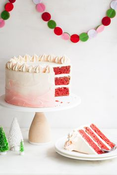 Peppermint Red Velvet Cake // Style Sweet CA