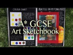 A* GCSE Fine ART Sketchbook Tour + Final Pieces - YouTube