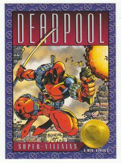 X-Men Series 2 - Deadpool # 62 Skybox 1993 Marvel Comic Character, Marvel Comic Books, Comic Book Characters, Marvel Dc Comics, Marvel Heroes, Wade Wilson, Spiderman, Comic Room, Marvel Animation