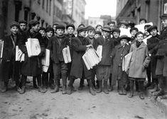 Old Photos Newark New Jersey | Some of Newark's small newsboys. Newark, New Jersey, 1909