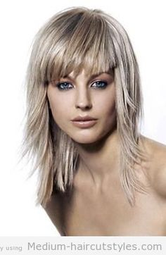 medium length hairstyles layered with bangs (1) 2014 - Medium ...