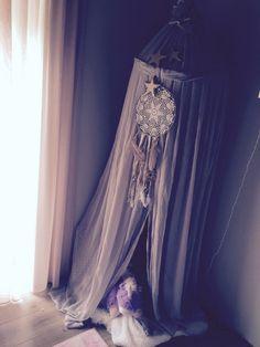 Prinsessentent #kinderkamer #klamboe #dromenvanger