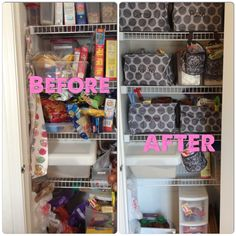 Organize your pantry with Thirty-One Square Utility Totes and Oh-Snap Bins!