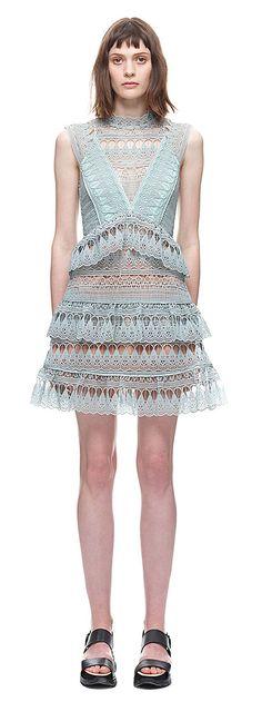 Teardrop Guipure Panelled Mini Dress