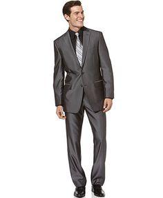 Calvin Klein Suit, Grey Sheen Slim Fit - Mens Suits & Suit Separates - Macy's