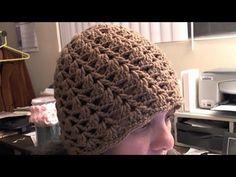 How to crochet a swirl pattern beanie (Half shell stitch) - subtitulos en espanol - YouTube