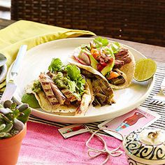 Grilled Garlic-Marinated Skirt Steak Taco recipe from 6/14 Family Circle Magazine