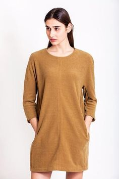 SALES - now was Caramel tunic dress by Chicks on Chic Sales Now, Tight Dresses, Corset, Caramel, Vintage Outfits, Tunic Tops, Chic, Handmade, How To Wear