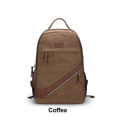 Coffee Canvas Backpack Mens Canvas Backpack Students School Canvas Backpack Mens Travel Backpack Womens Travel Backpack Can032