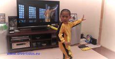 """Con 5 años es el doble """"calcao"""" de Bruce Lee - Divertidos"""