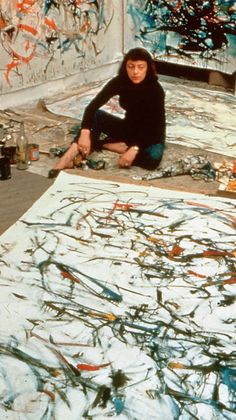 Joan Mitchell posing for Life magazine1957